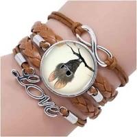 cutest little bat ever logo bracelet heart shaped bronze vintage bracelet women jewelry inspiring word gifts