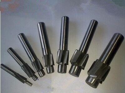 6pcs/set 4 Flute HSS AL Counterbore End Mill M4 M5 M6 M8 M10 M12 metric Endmill/ sink holes drilling head milling cutter
