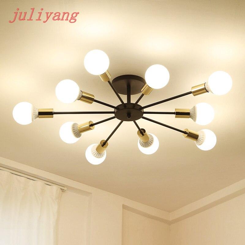 Juliyang-مصباح سقف LED صناعي عتيق 6/8/10 ، مصباح سقف LED ، إضاءة زخرفية داخلية