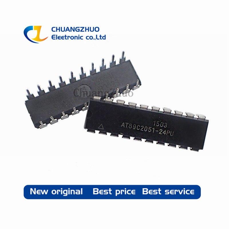 AT89C2051-24PU AT89C2051 89C2051 DIP-20 новый оригинальный IC лучшее качество