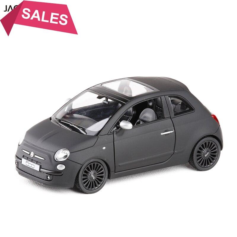 1/36 escala Italia FIAT 500 Metal fundido a presión negro mate con Pull Back juguete de modelo de coche para regalo niños colección de regalos