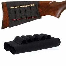 Airsoft fusil chasse tactique Sgun pochettes 5 cartouches bout à bout Stock porte-coquille élastique porteur de tissu