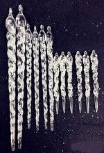 Glace de noël en acrylique   12 pièces, 13/23/30cm, accessoires de décoration en poudre de diamant, ornement darbre de noël