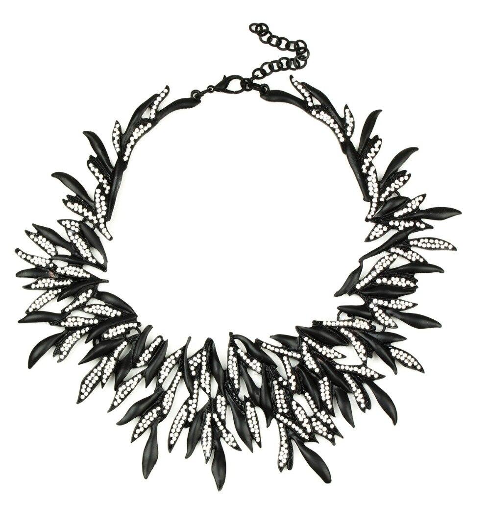 Женское Ожерелье, винтажное, из сплава цинка, матовое, черное, Золотое