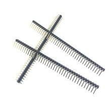 Venda quente 10 pçs 40 pinos 1x40 única fileira macho 2.54mm pino quebrável cabeçalho ângulo direito conector tira de flexão