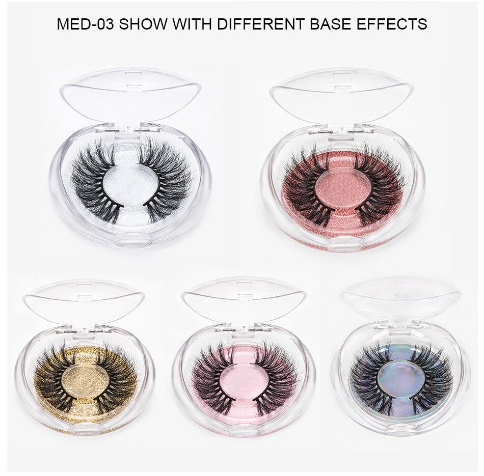 3D Mink Hair False Eyelashes Egg Support Natural Long Eye Lashes Cruelty Free Volume Mink Lashes High Quality Handmade Makeup