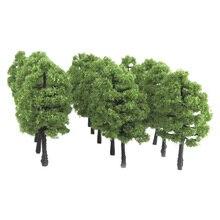 20 قطعة نموذج مصغرة البلاستيك الأشجار قطار شجرة اصطناعية السكك الحديدية تخطيط مشهد العمارة الاطفال المشهد شجرة ملحق