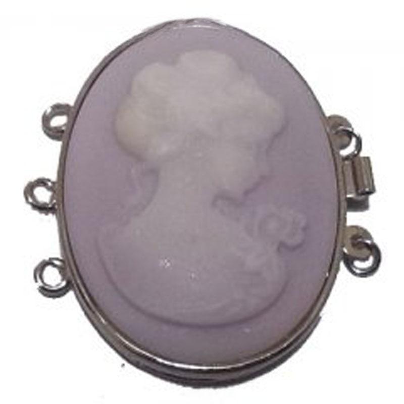 3 linhas 40mm cabeça elíptica natural lavanda jade cinzelando colar fecho