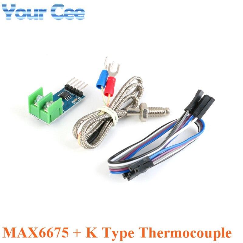 Module MAX6675 + convertisseur de Module de capteur de température Thermocouple de Type K pour Arduino