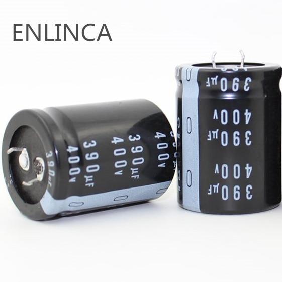 1 Uds EC801 buena calidad 400v390uf Radial DIP condensadores electrolíticos de aluminio 400v 390uf tolerancia 20% tamaño 30x40MM 20%
