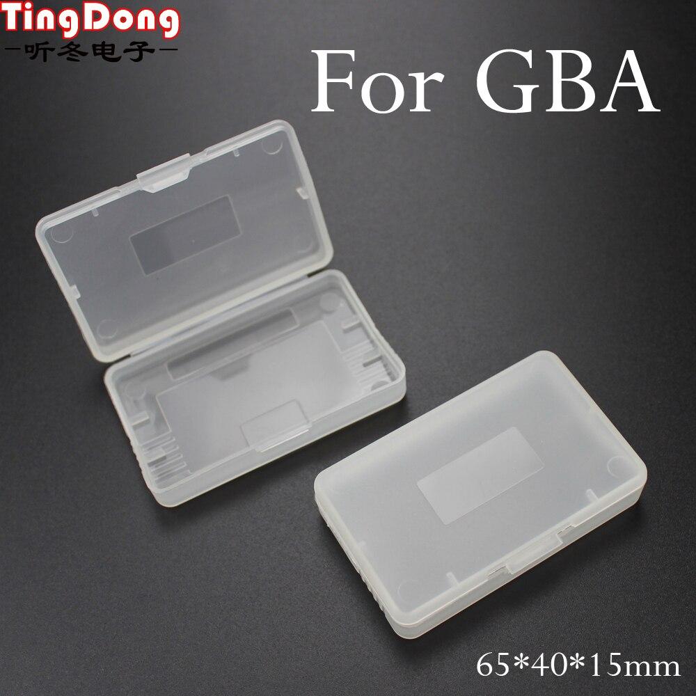 تنغدونغ 200 قطعة ل نينتندو Game Boy ل GBA/GBA SP واضح لعبة خرطوشة حالات لعبة صندوق تخزين خرطوشة استبدال