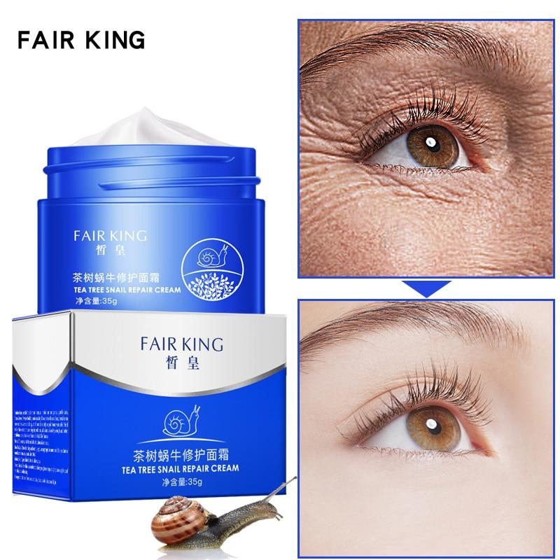 Tea Tree Snail Repair Cream  Moist Nourishing Facial Cream Alleviate Skin Dry Rough Skin Lightening Care Whitening Cream TSLM1