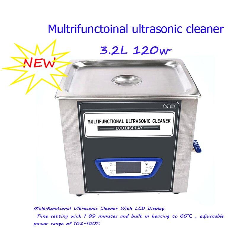 Ультразвуковой очиститель 40kHZ 3.2L многофункциональный регулируемый мощный ультразвуковой очиститель мяча для гольфа с функцией дегаса