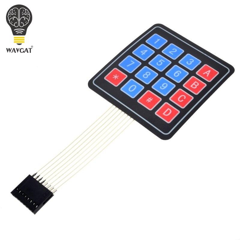 Wavgat 20 pces 16 chave 4x4 interruptor de membrana teclado 4x4 4*4 matriz matriz teclado