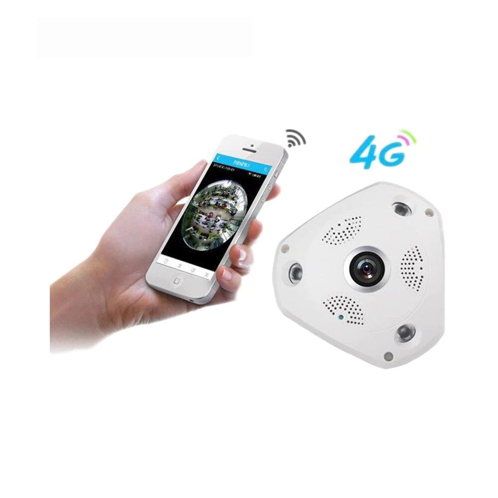 Cámara IP móvil inalámbrica panorámica de 360 grados 3G/4G con alarma VR de 3MP cámara de vigilancia utilizada como WIFI Hotspots APP alarma gratuita