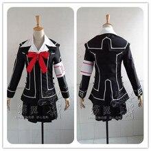 Костюм Рыцаря-вампира, платье для косплея Юки крестиком, белая/Черная форма, размер на заказ, бесплатная доставка