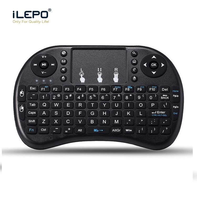 ILEPO Air Mouse 2,4 GHz Беспроводная Клавиатура RU и EN версия Мини тачпад ручной для Android TV Smart Box PC ноутбук пульт дистанционного управления
