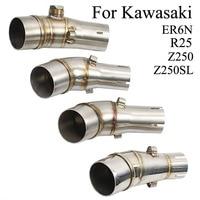 פליטת צעיף אופנוע אמצע להתחבר אמצע צינור מתאם צינור עבור Kawasaki ninja 250 300 ninja300 ER6N R25/R3 Z250 /Z300 Z250SL