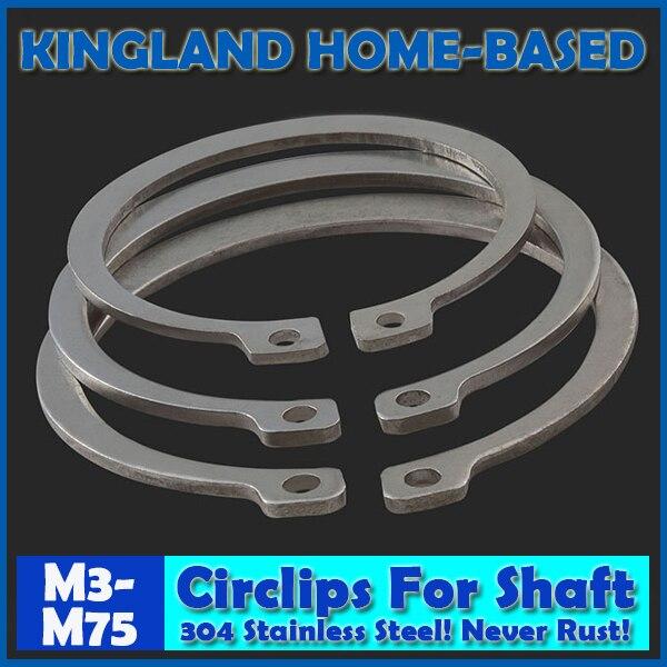 M3-M75 304 Stainless Steel E Clip Washer Assortment Kit  Circlip Retaining Ring For Shaft Fastener Hardware