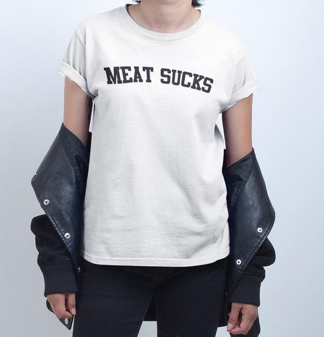 Женская футболка с надписью MEAT sups, хлопковая Повседневная забавная футболка для девушек, футболки tumblr, хипстерская Прямая поставка, новинка...