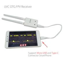 Récepteur Audio FPV de diversité ROTG02 UVC OTG 5.8G 150CH pour Smartphone tablette Android pour connecteur Micro USB et type-c