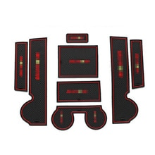 Support de verre pour accoudoir de porte de voiture   8 pièces, antidérapant intérieur de voiture, panneau de rangement, support de verre, housse de fente autocollant pour Mitsubishi Lancer-ex