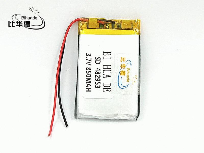 3,7 V, 850 mAH 482953 PLIB; polímero de iones de litio/batería de iones de litio para dvr, GPS, mp3... mp4 celular teléfono altavoz
