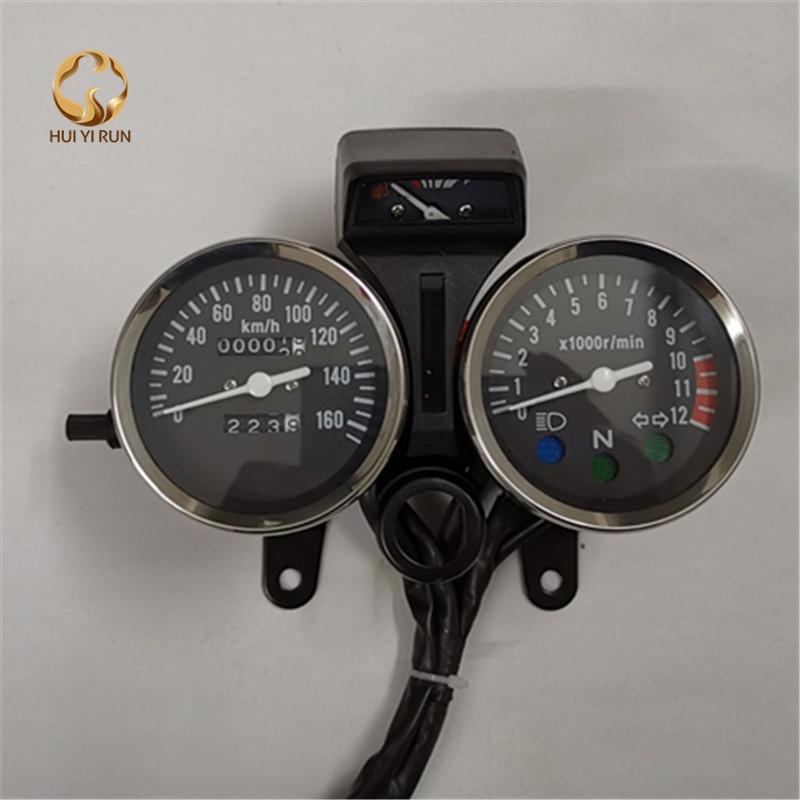 العالمي للقراءة عداد السرعة مقياس لوحة دراجة نارية عداد المسافات أداة LED KM/H المتسابق ATV النفط الجدول