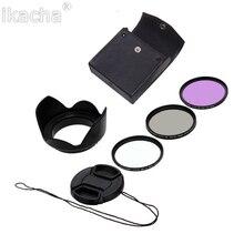 58mm caméra filtre UV CPL FLD Kit de filtre circulaire + capuchon dobjectif + pare-soleil fleur 5 en 1 ensemble pour Canon Nikon Sony Pentax appareil photo