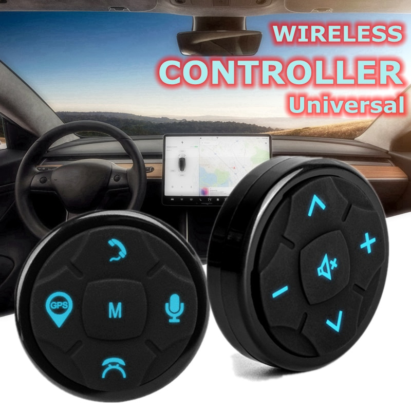 Универсальный 10Key Автомобильный руль управления ler беспроводной музыкальный DVD GPS навигация рулевое колесо Радио пульт дистанционного упра...