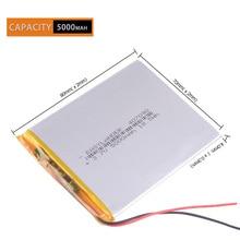 CE Rohs 5000mah Li-Ion 307090 3,7 V Polymer lithiumion Batterie e-book texet TB-536FL tablet tekset digma idxd7