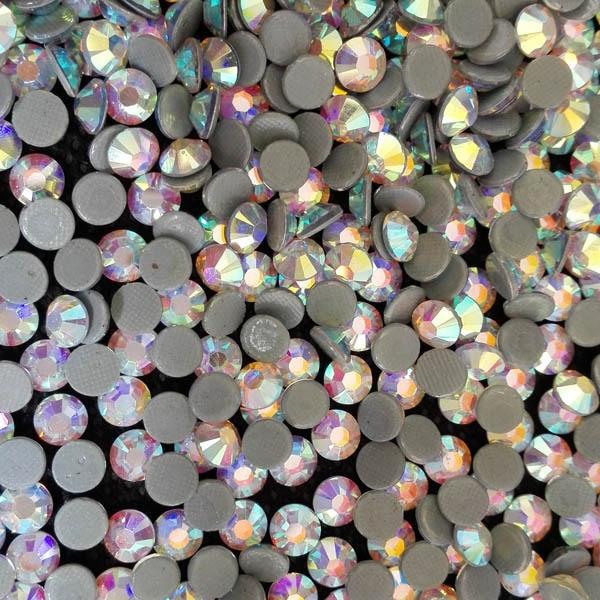High quality 4mm ss16 Crystal AB Austrian hot-fix rhinestonehair accessory ;wedding dress of hot fix rhinestones wholesale price