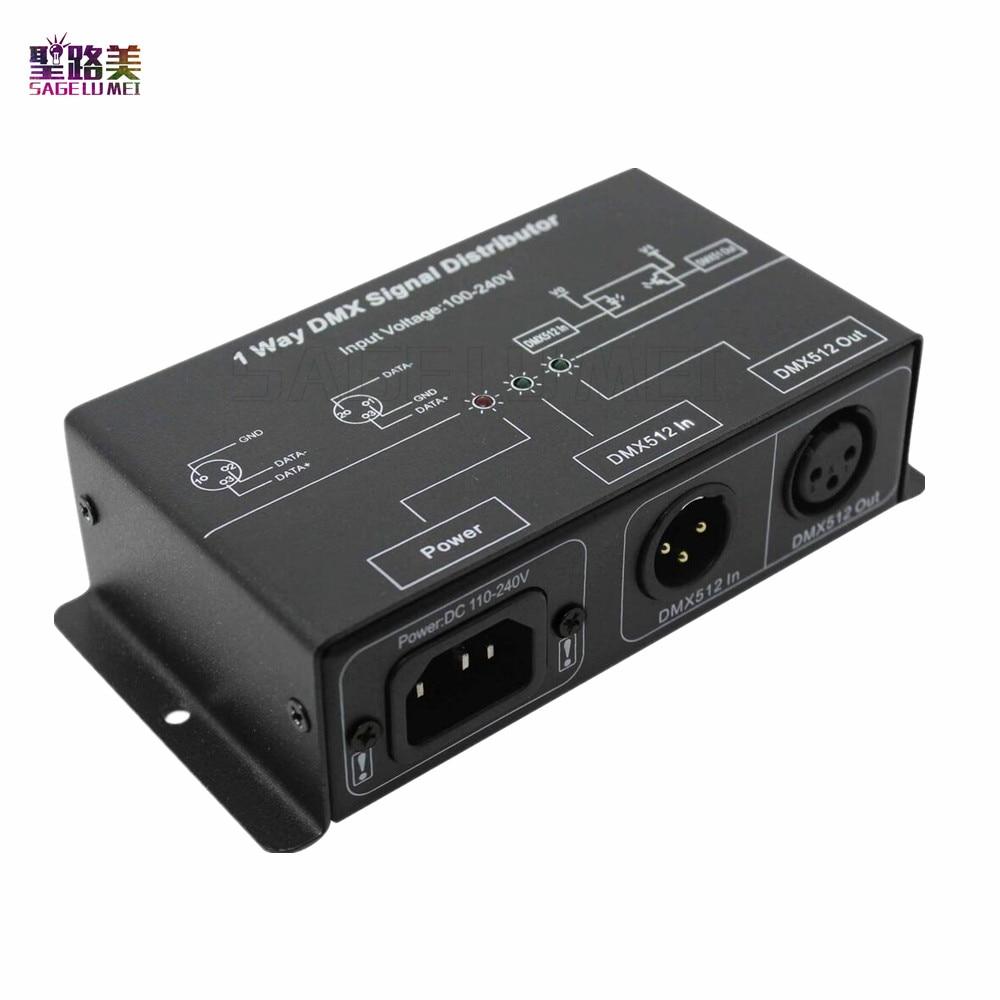100V-240V DMX121 DMX LED amplificateur séparateur DMX répéteur de signal 1CH 1 port de sortie DMX signal distributeur 1 canal DMX sortie