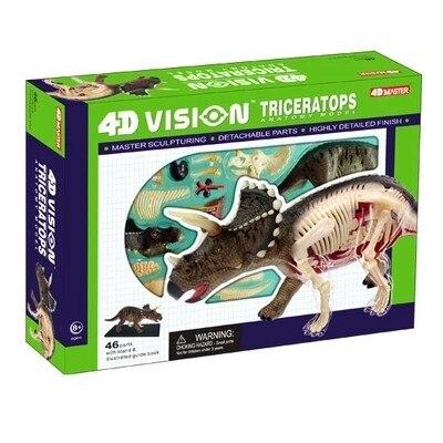 4D maestro juguete modelos ensamblado modelo número Triceratops anatomía, anatómico modelo envío gratis