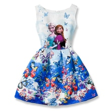 Elsa Dress for Girls Dresses summer Butterfly Anna Elsa Party Princess Dress clothing Elsa Dress Girls Kids Costume Clothes