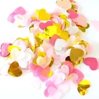 2 bag heart paper confetti pink white gold birthday decor shower table decoration birthday princess party decorative supplies