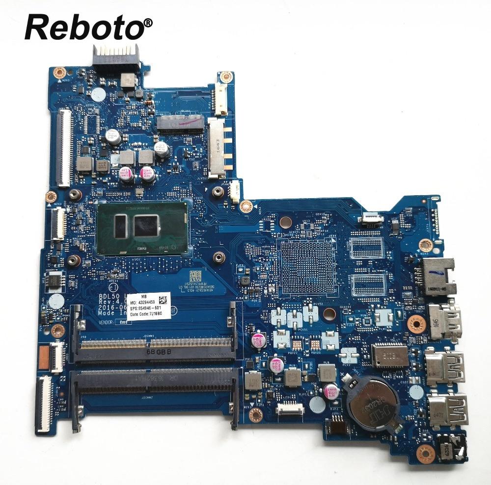 Placa base para ordenador portátil HP 15-AY 115-AY028 854946-601 BDL50 LA-D704P con placa base SR2EU I3-6100U DDR4 100% probado envío rápido