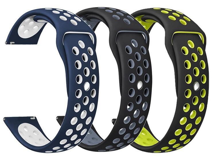 Bracelet Silicone Ticwatch 1 2 E pro pour samsung galaxy montre active 42 46 s2 s3 en direct Neo huami amazfit 2 s 1 bip rythme bracelet Sport