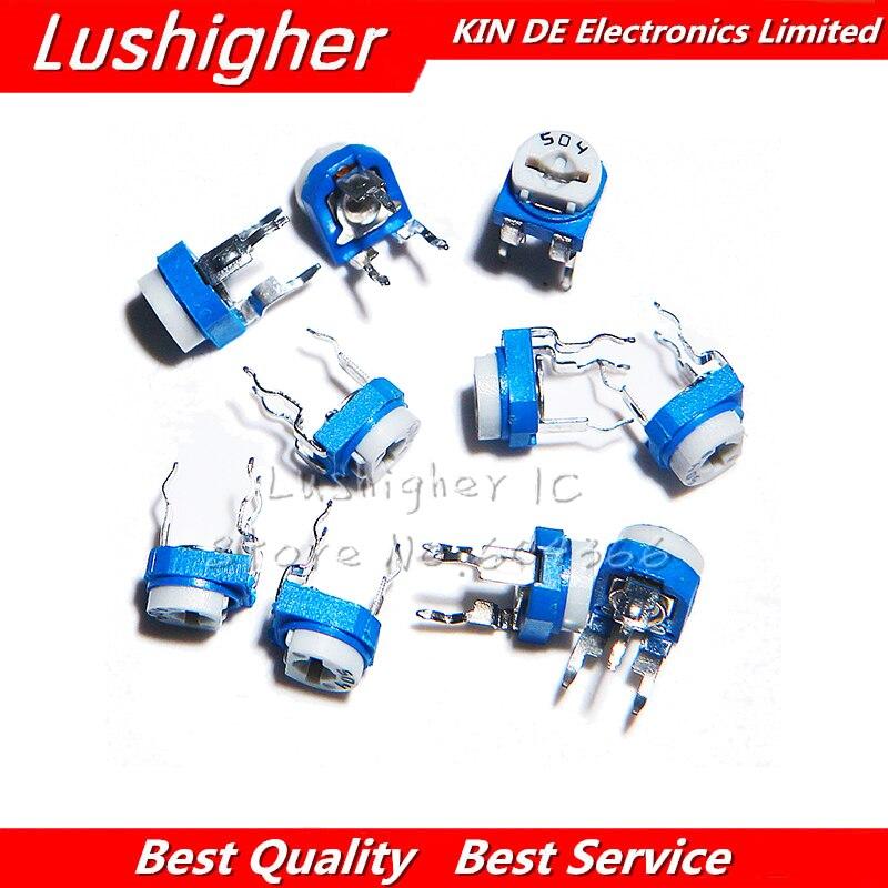 20 pçs rm065 200 k ohm 204 RM-065 RM065-204 trimpot trimpot trimpot potenciômetro resistor variável novo