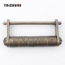 Cadenas en alliage de Zinc Antique   Serrure rétro à combinaison, 5 mots de passe, boîte à bijoux, pour valise en bois, tiroir