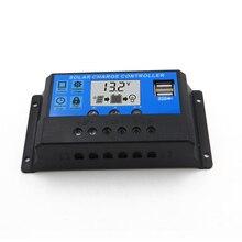 LCD 60A 50A 40A 30A 20A 10A 12V 24V PWM Regulator ładowania słonecznego wyjście 5V ładowarka z panelem solarnym Regulator PV