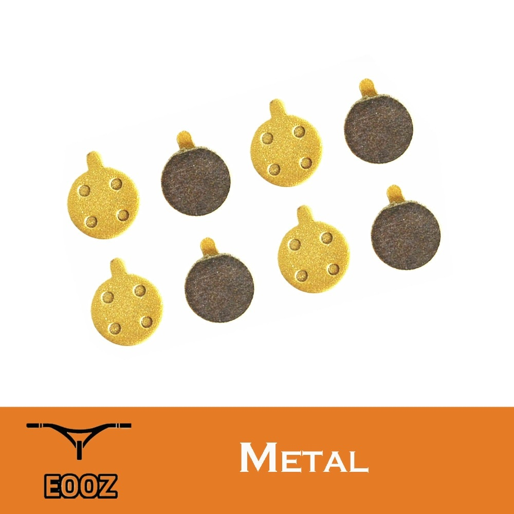4 pares de pastillas metálicas de freno de disco para bicicleta Alhonga SNG ZOOM mecánico