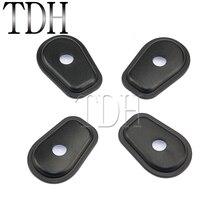 1 Set Black Motorcycle Turn Signals Indicator Spacers For Kawasaki Z250 Z300 Z750 Z800 Z1000 NINJA 1000 650 Versys 2006-2018