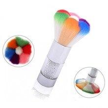 1 pièces strass poignée brosse de nettoyage des ongles enlever la poussière poudre nettoyant brosse pour acrylique UV Gel ongles Art manucure outil de soin DB3