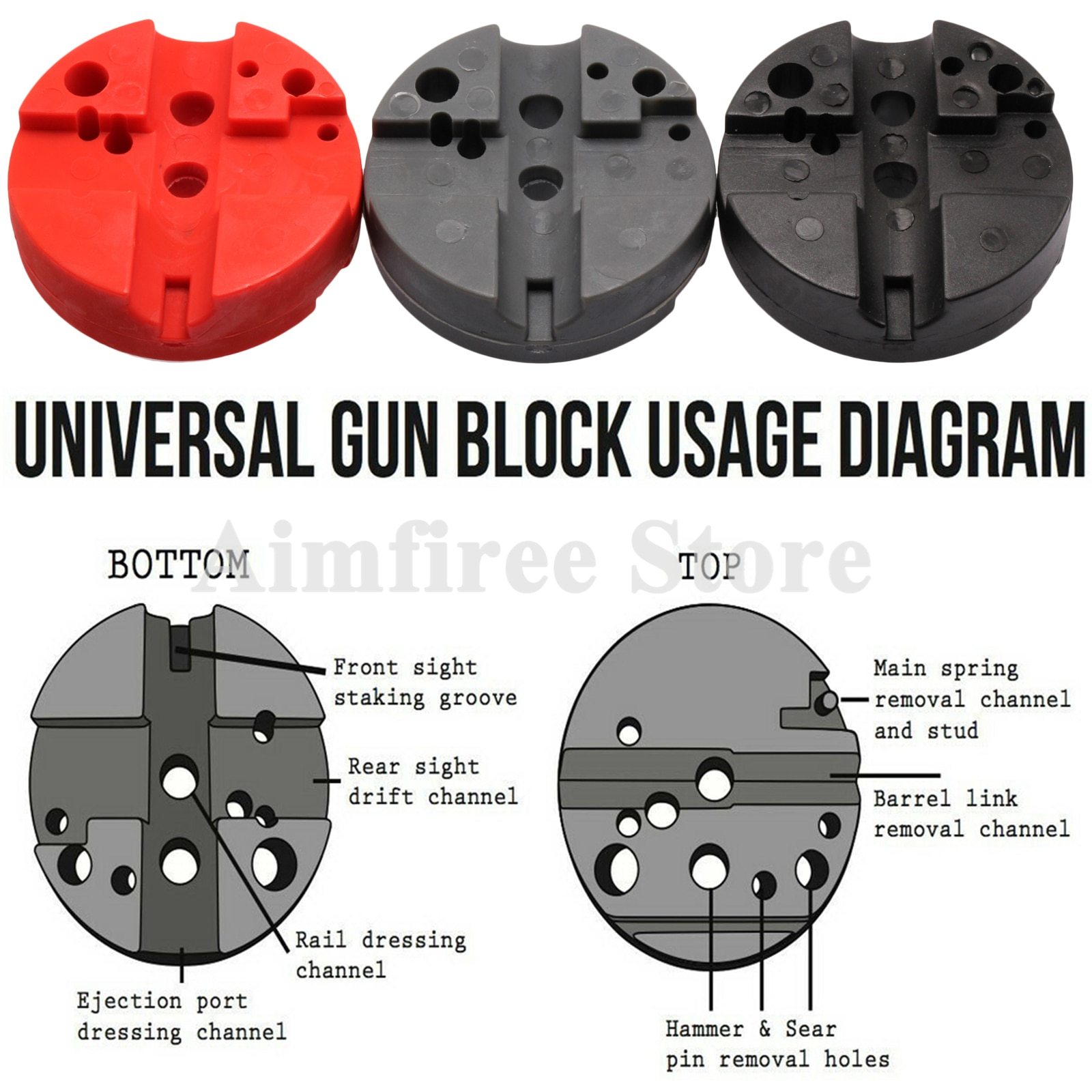 Universal Gunsmithing bloque de Banco revólver M1911 Ruger 10/22s estilo volver a montar el bloque de Banco de montaje