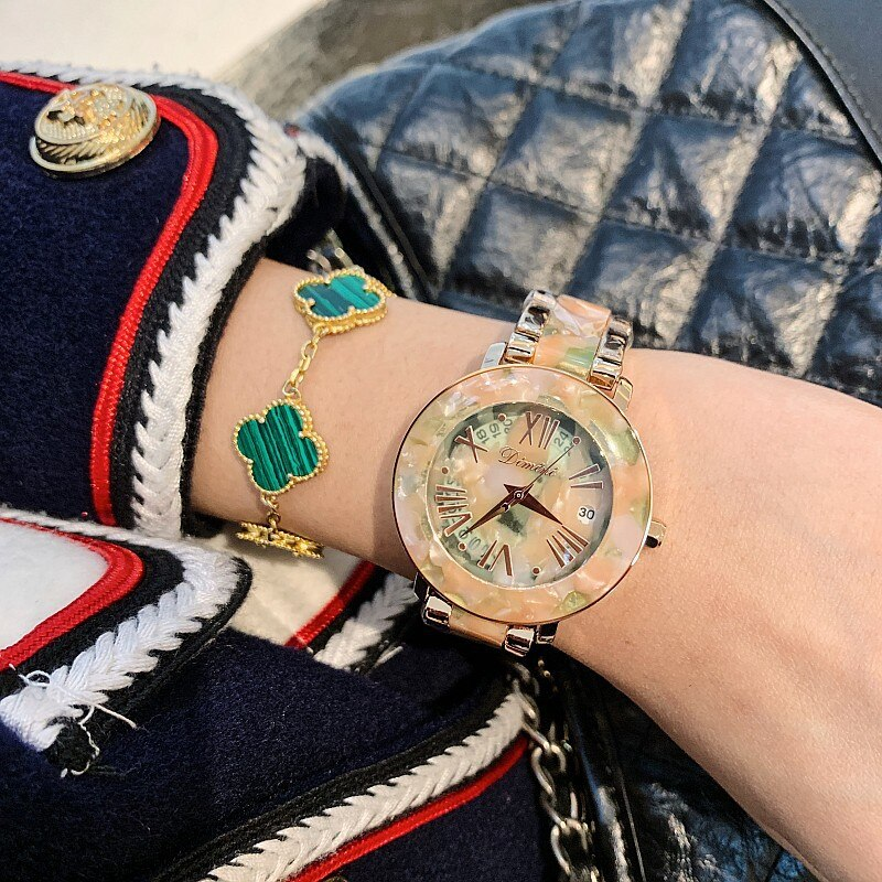 Dimini Women Watches Fashion Luxury Ladies Watch Woman Rhinestone Wristwatches Stainless Steel Crystal Watches Relogios Clocks enlarge