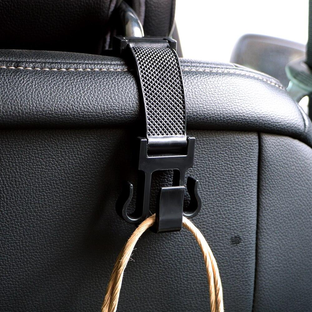 1 peça auto traseiro cremalheiras gancho assento de volta cabide para sacos de supermercado bolsa titular auto fixador clipes encosto cabeça do carro ganchos organizador do carro