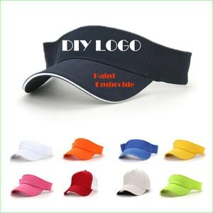 DIY Logos & Letter Sports Visor Cap Running Tennis Golf Hiking Biking Empty Top Hat MOQ 1 Piece