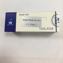 30 pièces/boîte bande dessai de peroxyde dhydrogène 0.5-25 bande dessai résiduelle de désinfection des aliments tube colorimétrique