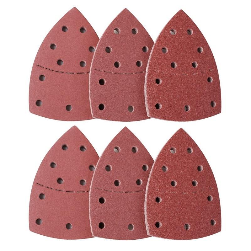 60 uds placa lijadora, lijadora de ratones para Psm 200 Aes, Psm 18 y todas las multiherramientas de vibración, 10 piezas cada una 40/60/80/120/180/240G
